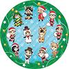 ハイキュー!!クリスマス 丸型クッション
