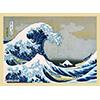 ブロッコリー ハイブリッドスリーブ 葛飾北斎「富嶽三十六景 神奈川沖浪裏」