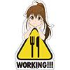 WORKING!!! マグネットステッカー