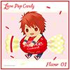 うたの☆プリンスさまっ♪ マイクロファイバーミニタオル Love Pop Candy ちびキャラVer.